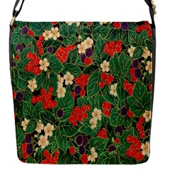 Berries And Leaves Flap Messenger Bag (S)