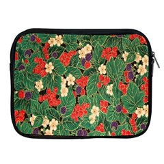 Berries And Leaves Apple Ipad 2/3/4 Zipper Cases