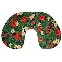 Berries And Leaves Travel Neck Pillows
