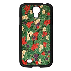 Berries And Leaves Samsung Galaxy S4 I9500/ I9505 Case (Black)