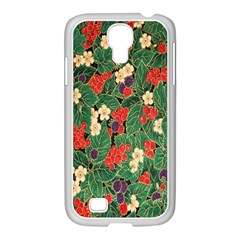 Berries And Leaves Samsung GALAXY S4 I9500/ I9505 Case (White)