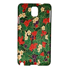 Berries And Leaves Samsung Galaxy Note 3 N9005 Hardshell Case