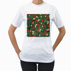 Berries And Leaves Women s T-Shirt (White)