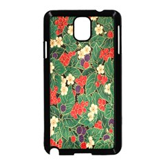 Berries And Leaves Samsung Galaxy Note 3 Neo Hardshell Case (black)