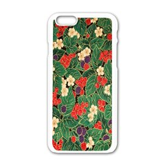 Berries And Leaves Apple Iphone 6/6s White Enamel Case