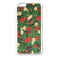 Berries And Leaves Apple iPhone 6 Plus/6S Plus Enamel White Case