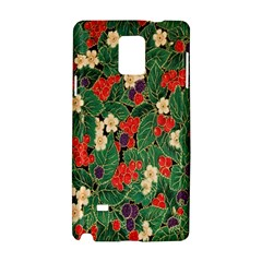 Berries And Leaves Samsung Galaxy Note 4 Hardshell Case