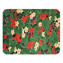 Berries And Leaves Double Sided Flano Blanket (Large)