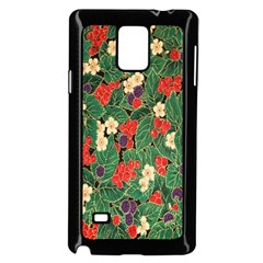 Berries And Leaves Samsung Galaxy Note 4 Case (Black)