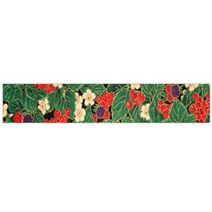 Berries And Leaves Flano Scarf (Large)
