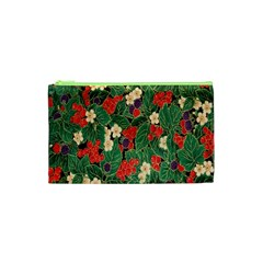 Berries And Leaves Cosmetic Bag (XS)