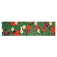 Berries And Leaves Satin Scarf (oblong)