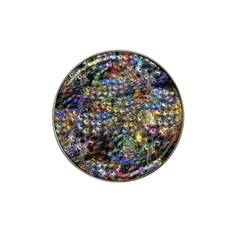 Multi Color Peacock Feathers Hat Clip Ball Marker (10 Pack)