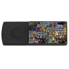 Multi Color Peacock Feathers Usb Flash Drive Rectangular (4 Gb)