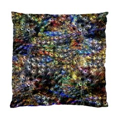 Multi Color Peacock Feathers Standard Cushion Case (two Sides)