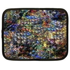 Multi Color Peacock Feathers Netbook Case (xl)