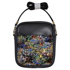 Multi Color Peacock Feathers Girls Sling Bags
