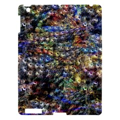 Multi Color Peacock Feathers Apple iPad 3/4 Hardshell Case