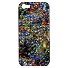 Multi Color Peacock Feathers Apple Iphone 5 Hardshell Case