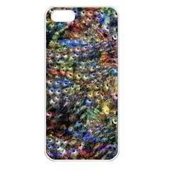Multi Color Peacock Feathers Apple Iphone 5 Seamless Case (white)