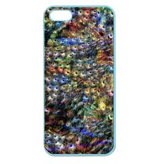 Multi Color Peacock Feathers Apple Seamless Iphone 5 Case (color)