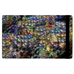 Multi Color Peacock Feathers Apple iPad 2 Flip Case