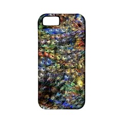 Multi Color Peacock Feathers Apple iPhone 5 Classic Hardshell Case (PC+Silicone)