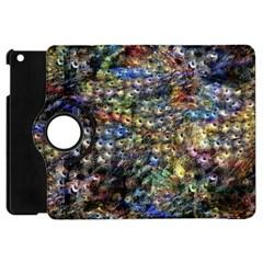 Multi Color Peacock Feathers Apple Ipad Mini Flip 360 Case