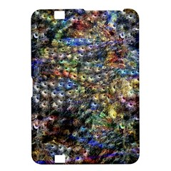 Multi Color Peacock Feathers Kindle Fire HD 8.9