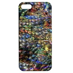 Multi Color Peacock Feathers Apple Iphone 5 Hardshell Case With Stand