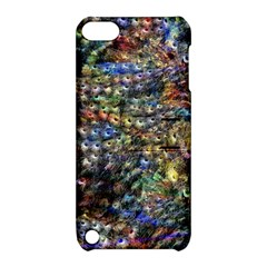 Multi Color Peacock Feathers Apple Ipod Touch 5 Hardshell Case With Stand