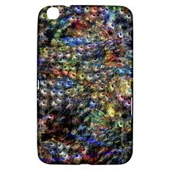 Multi Color Peacock Feathers Samsung Galaxy Tab 3 (8 ) T3100 Hardshell Case