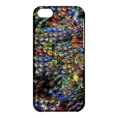 Multi Color Peacock Feathers Apple iPhone 5C Hardshell Case