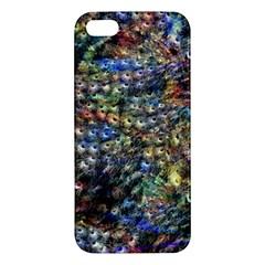 Multi Color Peacock Feathers iPhone 5S/ SE Premium Hardshell Case