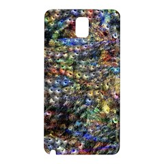 Multi Color Peacock Feathers Samsung Galaxy Note 3 N9005 Hardshell Back Case