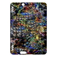 Multi Color Peacock Feathers Kindle Fire HDX Hardshell Case