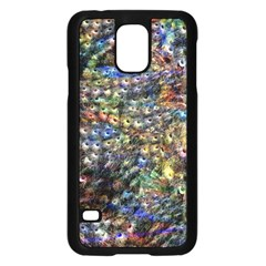 Multi Color Peacock Feathers Samsung Galaxy S5 Case (Black)