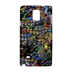 Multi Color Peacock Feathers Samsung Galaxy Note 4 Hardshell Case