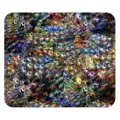 Multi Color Peacock Feathers Double Sided Flano Blanket (Small)