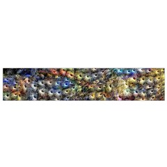 Multi Color Peacock Feathers Flano Scarf (Small)