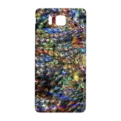 Multi Color Peacock Feathers Samsung Galaxy Alpha Hardshell Back Case