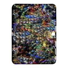Multi Color Peacock Feathers Samsung Galaxy Tab 4 (10.1 ) Hardshell Case