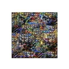 Multi Color Peacock Feathers Satin Bandana Scarf