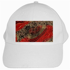 Red Gold Black Background White Cap