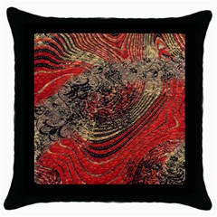 Red Gold Black Background Throw Pillow Case (Black)