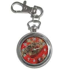 Red Gold Black Background Key Chain Watches