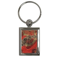 Red Gold Black Background Key Chains (rectangle)