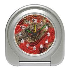 Red Gold Black Background Travel Alarm Clocks