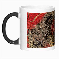 Red Gold Black Background Morph Mugs
