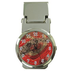 Red Gold Black Background Money Clip Watches